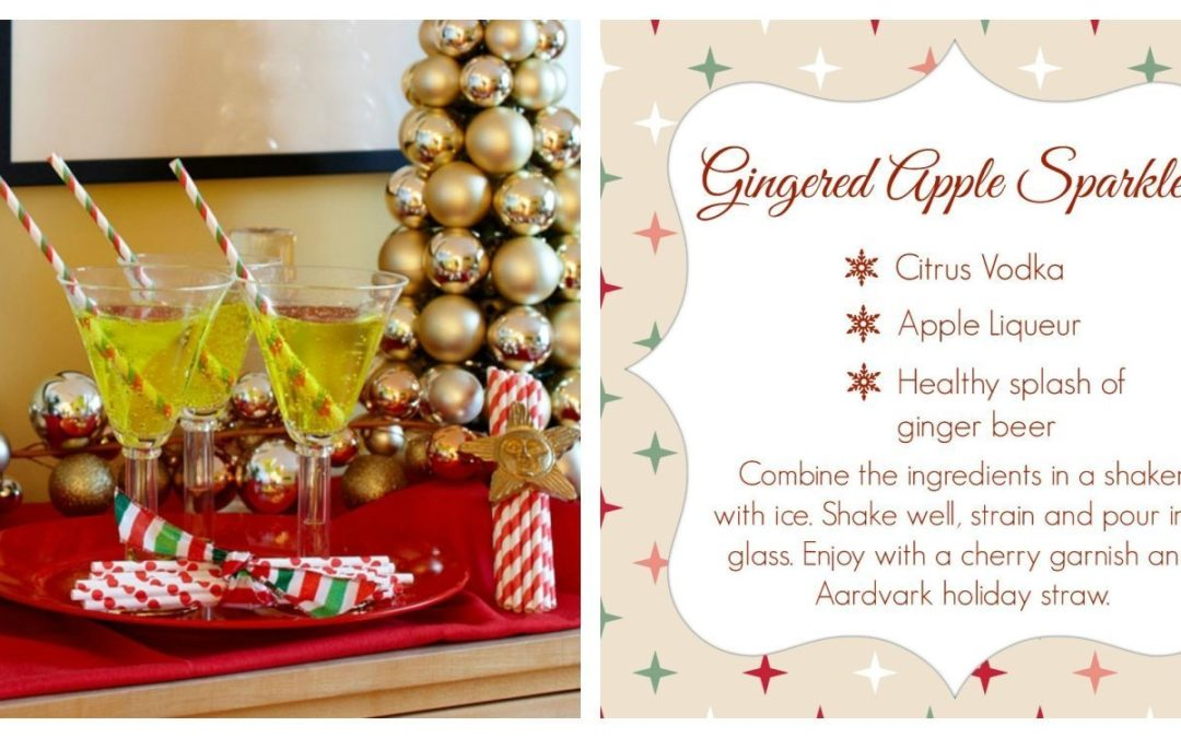 Holiday Drink Bling with Aardvark Straws
