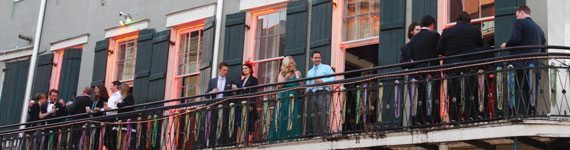 Bourbon Cowboy, New Orleans, French, Balcony, Bourbon Street, Southern Bride, Wedding