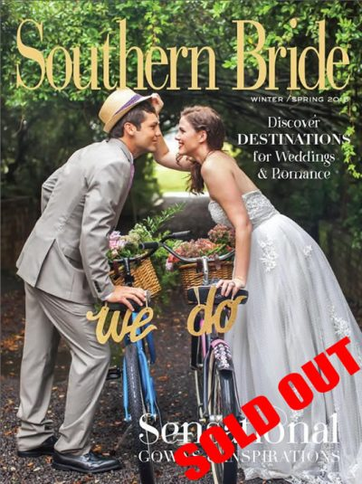 Southern Bride Magazine Cover Winter Spring 2015 Sold Out