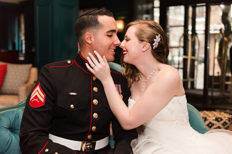 Old Town Alexandria Marine Corps Wedding