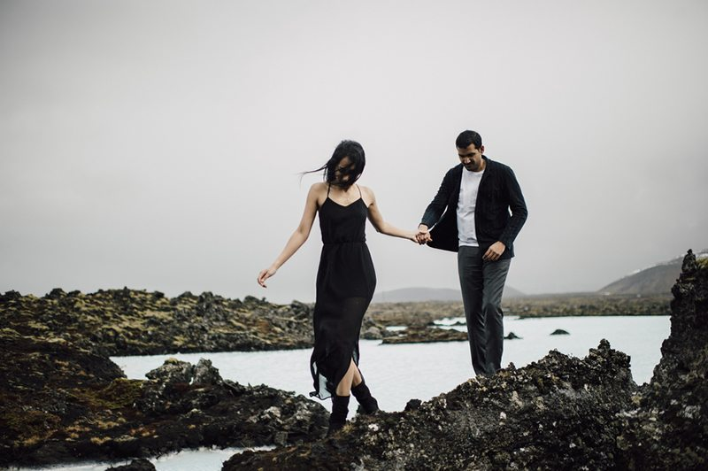 Icelandic_Engagement_Shoot-couple_walking_through_brook