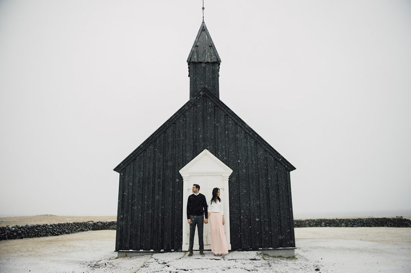 Icelandic Wedding Engagement Photo Shoot