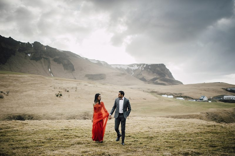 Icelandic_Engagement_Shoot-Couple_Walking_Through_Valley