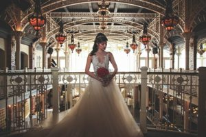 Beauty_And_The_Beast_Get_Married-Bride_Indoors