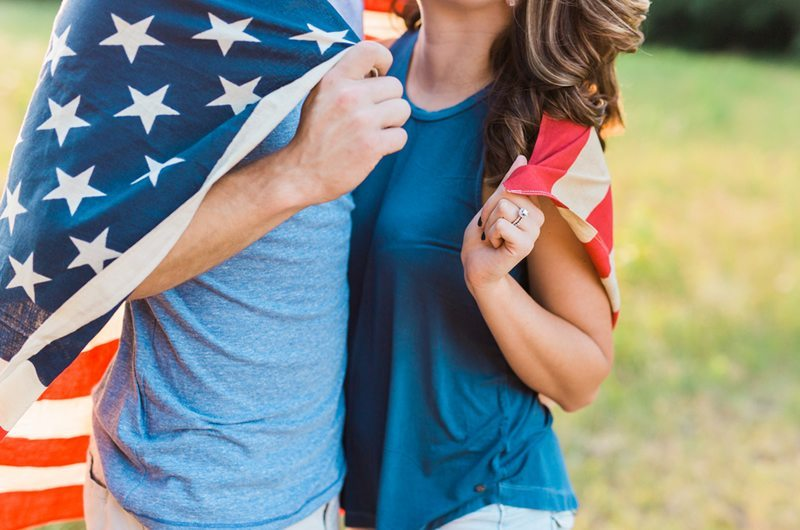 Americana Southern Wedding Engagement Photo Session