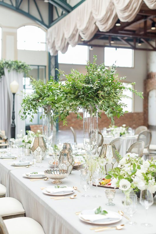 New_York_Style_Wedding_Inspiration-floral_decoration_on_table