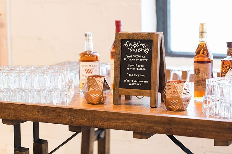 10_Ways_to_Make_Groom_Feel_Special-bourbon_on_table
