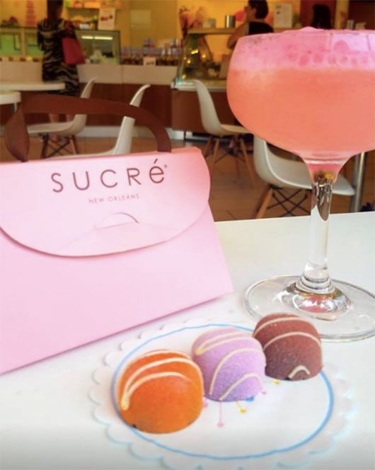 5 More Things To Do In NOLA Sucre Dessert And Pink Drink