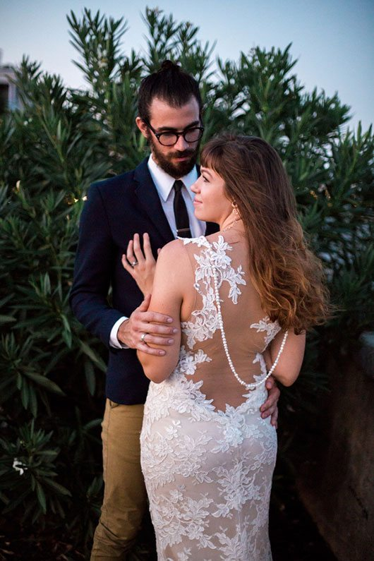 French_Boho-bride_and_groom_with_hair_down
