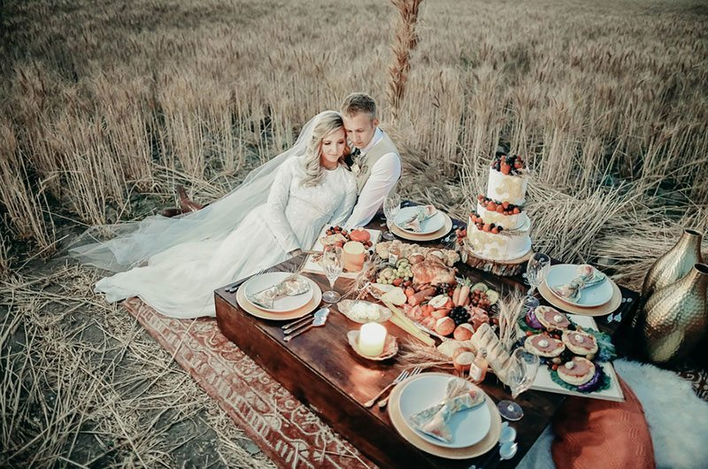 Feast Your Eyes On This Bountiful Wheat Harvest Wedding