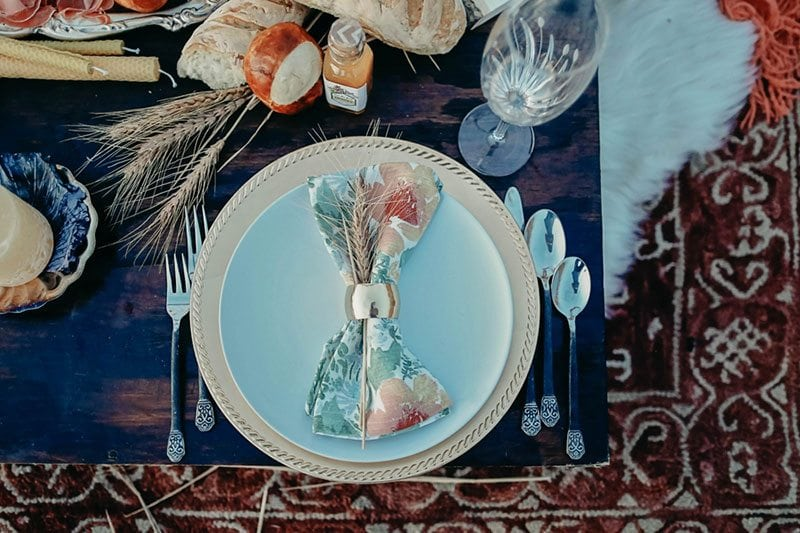 Bountiful Wheat Harvest Table Setting