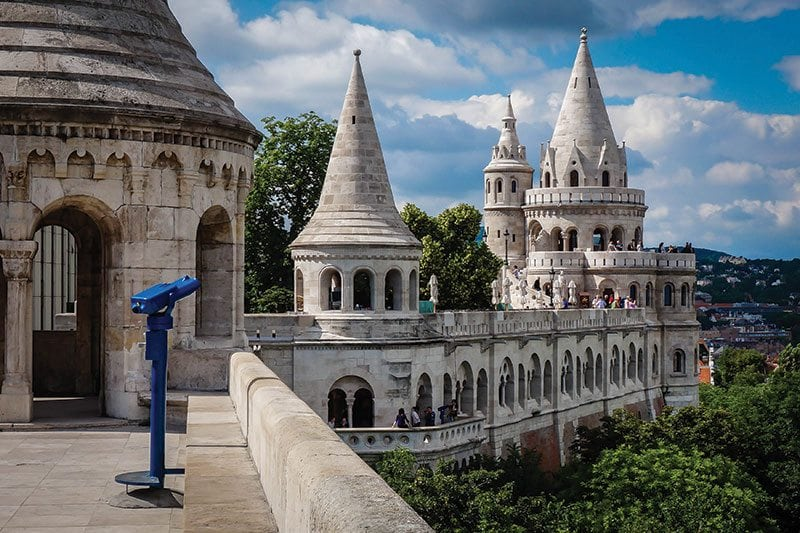 Budapest White Castle With Green Trees