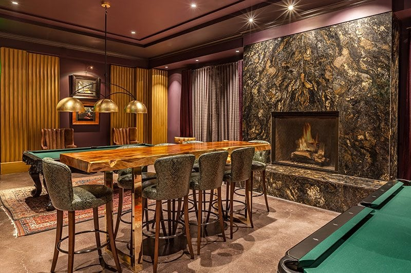 Grand Bohemian Pool Table With Fire