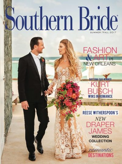 Southern Bride Summer Fall 2017 Fall Cover Featuring Ashley Van Metre and Kurt Busch