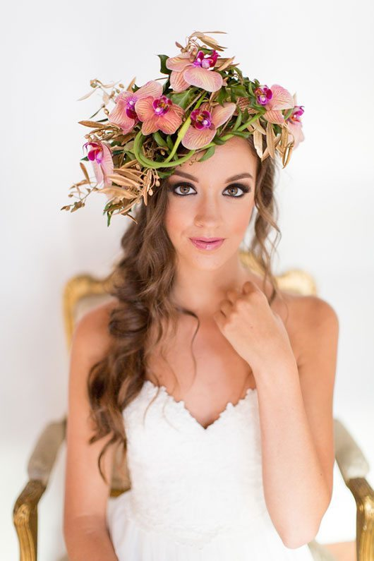 Enchanted Bride With Flower Crown