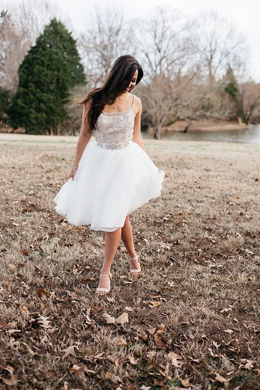 Timeless Territory Bride With Short Dress