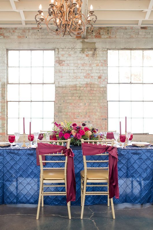 Vintage Copper Blue And Maroon Set Table