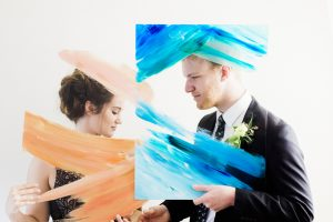 A Portrait Of Love Watercolor Bride And Groom