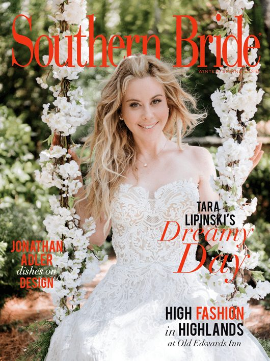Southern Bride Magazine Winter 2018 Cover Featuring Tara Lipinski