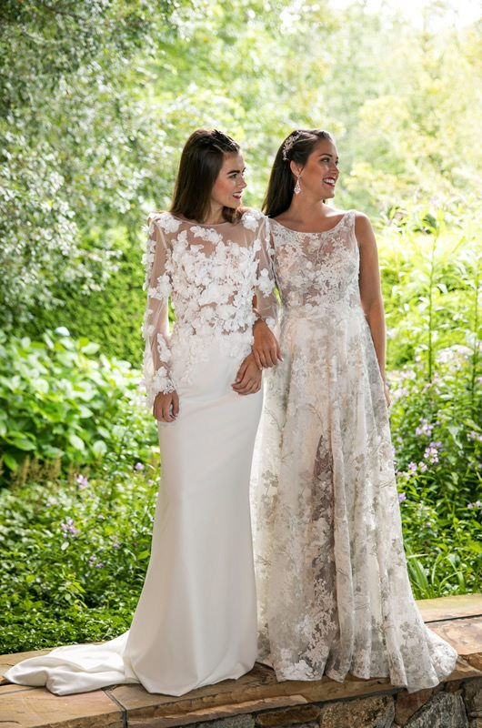 Floral Wedding Dresses Meesha And Clarissa