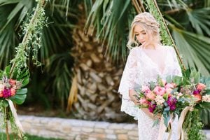 Tropical Texas Wedding Inspiration Bridal Hair
