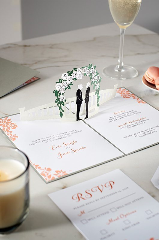 Wedding Invitations That Pop Railing