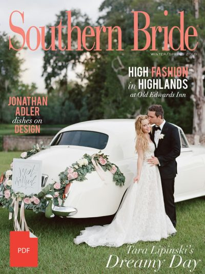 Southern Bride Magazine Spring 2018 Cover Pdf Web