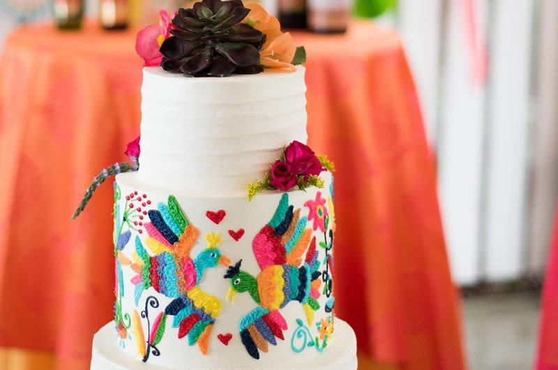 Mexican Wedding Inspiration Cake Details