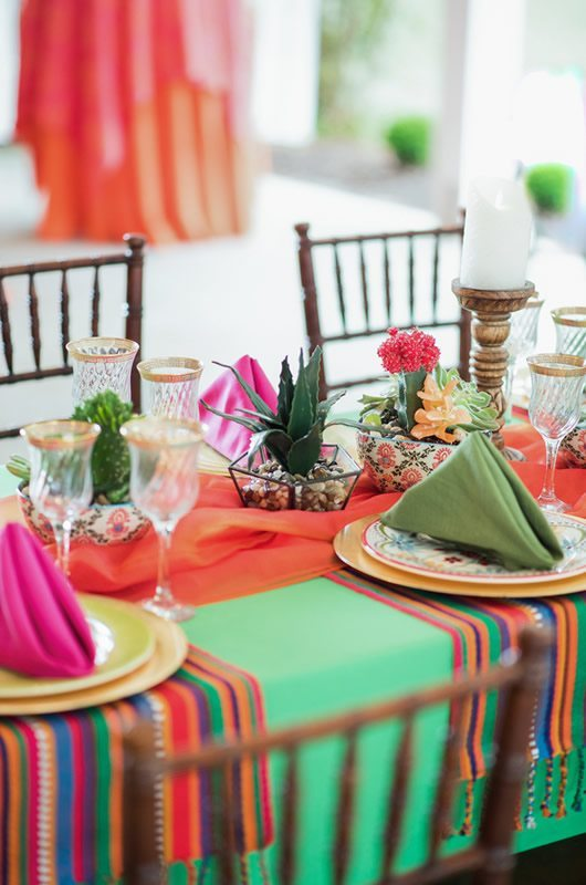 Mexican Wedding Inspiration Table Details