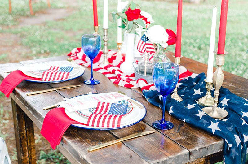 Emma 4th Of July Closeup Table