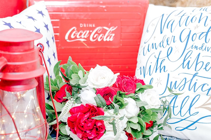Emma 4th Of July Flowers And Coke