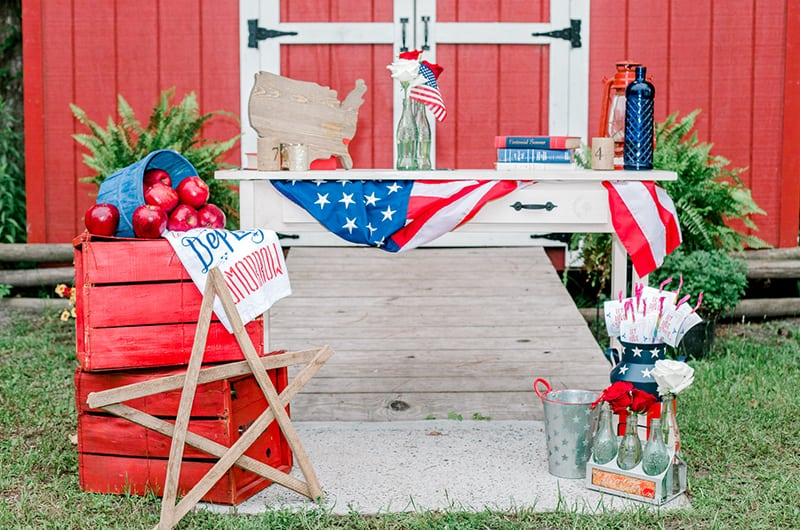 Emma 4th Of July Table Setup