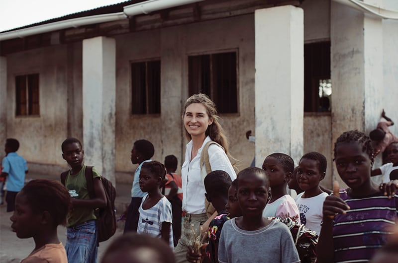 FEED Lauren Bush Smile In Crowd