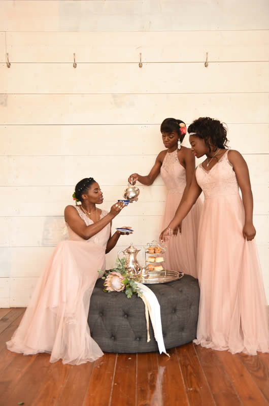 2018 Bridesmaids Dresses Pink Dress Group 2
