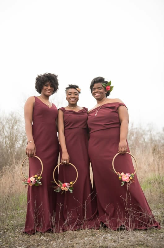 2018 Bridesmaids Dresses Red Dress Group
