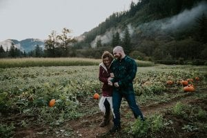 Dreamy Pumpkin Patch Engagement Photoshoot Pumpkin Patch