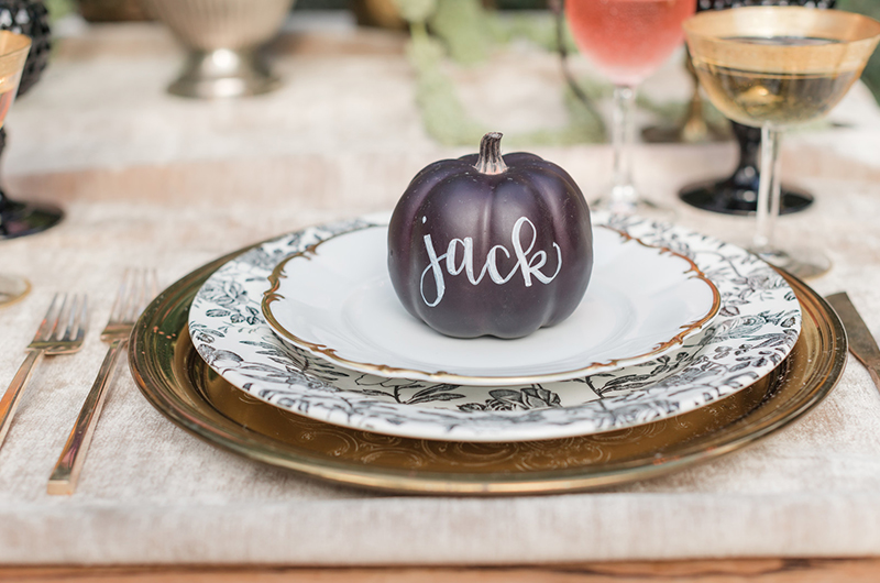 Halloween Inspo Place Setting