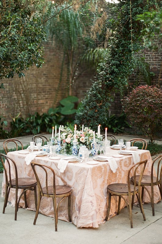 New Orleans Wedding Inspo Set Table