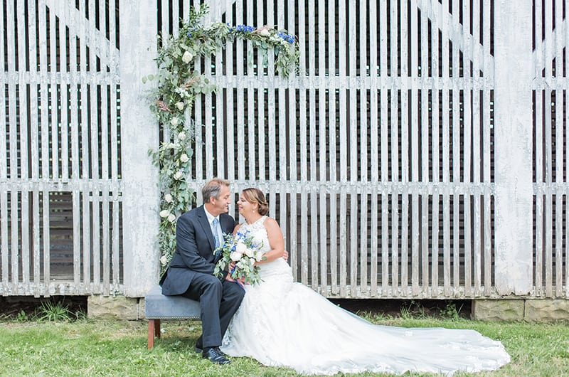 Sweet Princeton Vow Renewal Bench