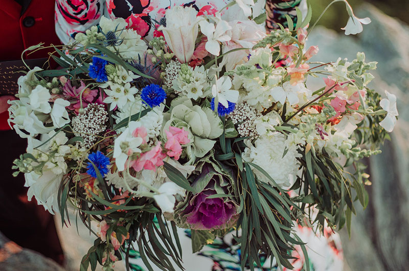 Eclectic Mountaintop Vow Renewal Bouquet