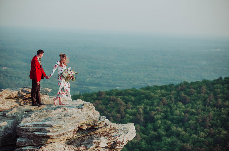 Eclectic Mountaintop Vow Renewal Couple 4