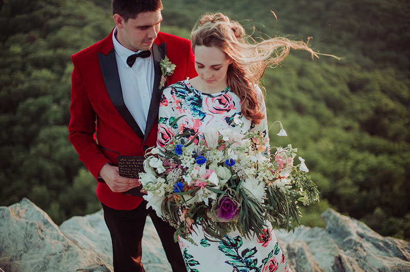Eclectic Mountaintop Vow Renewal