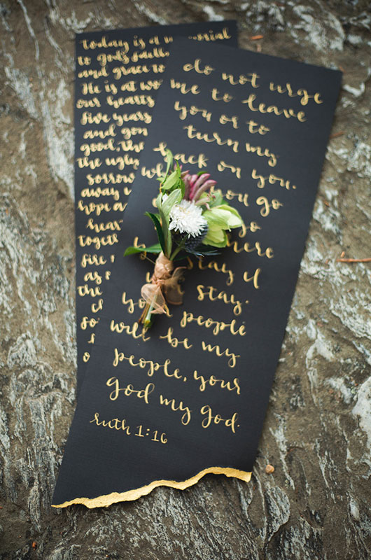 Eclectic Mountaintop Vow Renewal Vows