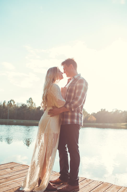 Fall Engagement Session In The Heart Of Georgia Lake Shot