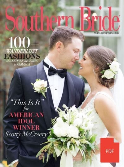 Southern Bride Magazine Winter 2019 PDF Cover