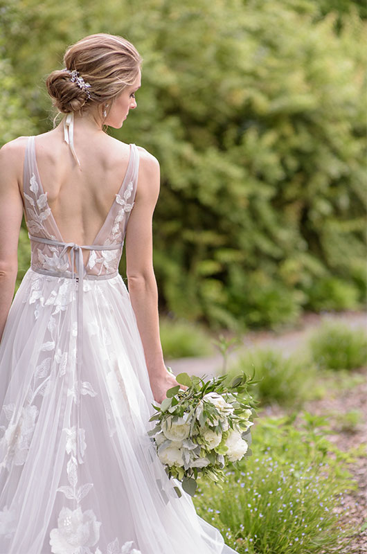 Chic Garden Wedding Inspiration Bride 1