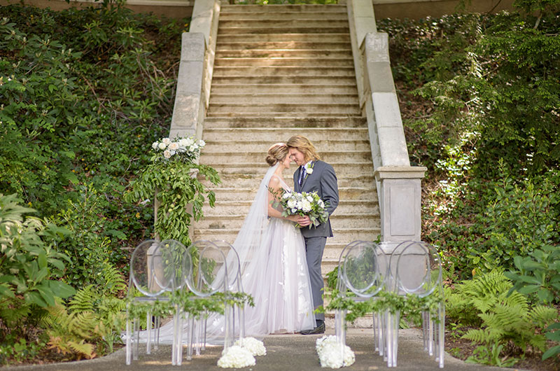 Chic Garden Wedding Inspiration Couple 1