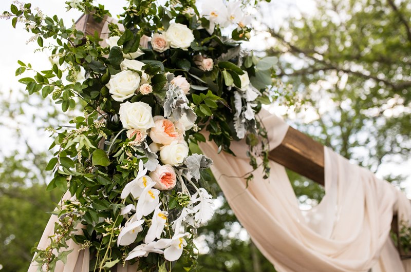 Formal Southern Wedding Inspriation Ceremony Flowers