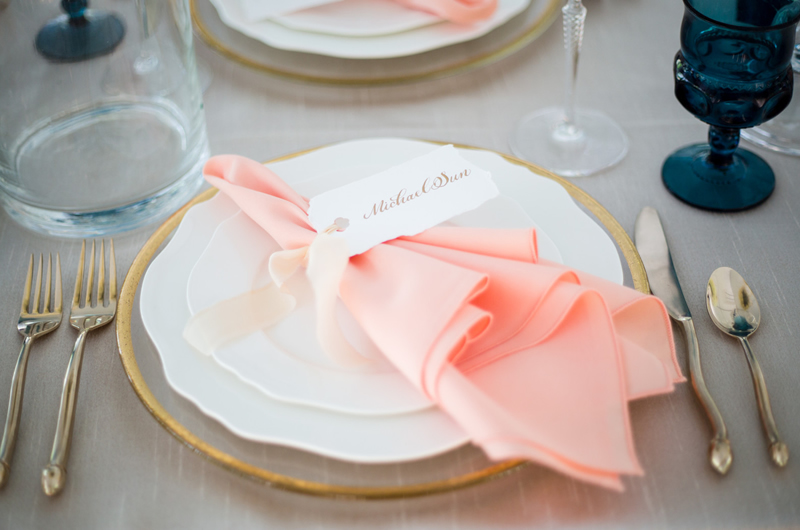 Formal Southern Wedding Inspriation Table Setting