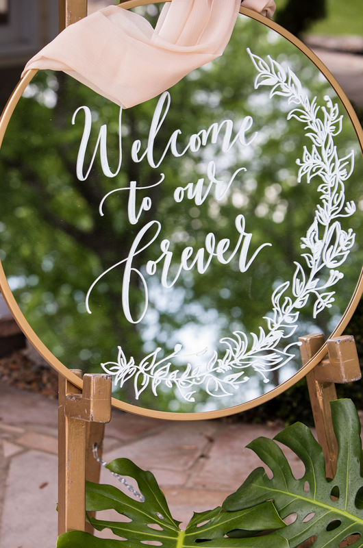 Formal Southern Wedding Inspriation Welcome Sign